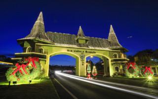Portico de Gramado durante o Natal Luz
